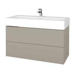 Dřevojas - Koupelnová skříň VARIANTE SZZ2 100 - L04 Béžová vysoký lesk / L04 Béžová vysoký lesk (267261)