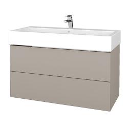 Dřevojas - Koupelnová skříň VARIANTE SZZ2 100 - N07 Stone / N07 Stone (267292)