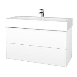 Dřevojas - Koupelnová skříň VARIANTE SZZ2 100 - N01 Bílá lesk / M01 Bílá mat (267421)
