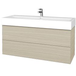 Dřevojas - Koupelnová skříň VARIANTE SZZ2 120 - D04 Dub / D04 Dub (267605U)