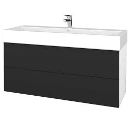 Dřevojas - Koupelnová skříň VARIANTE SZZ2 120 - N01 Bílá lesk / N03 Graphite (267940)