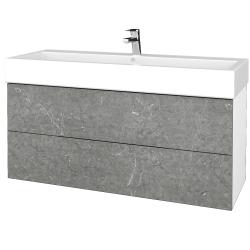 Dřevojas - Koupelnová skříň VARIANTE SZZ2 120 - N01 Bílá lesk / D20 Galaxy (268022)
