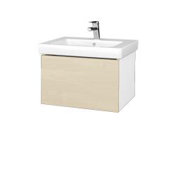 Dřevojas - Koupelnová skříň VARIANTE SZZ 60 - N01 Bílá lesk / D02 Bříza (271060)