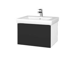 Dřevojas - Koupelnová skříň VARIANTE SZZ 60 - N01 Bílá lesk / N03 Graphite (271220)