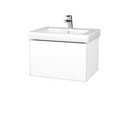 Dřevojas - Koupelnová skříň VARIANTE SZZ 60 - N01 Bílá lesk / L01 Bílá vysoký lesk (271268)