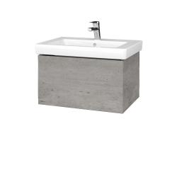 Dřevojas - Koupelnová skříň VARIANTE SZZ 65 - D01 Beton / D01 Beton (271329)