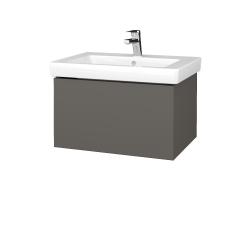 Dřevojas - Koupelnová skříň VARIANTE SZZ 65 - N06 Lava / N06 Lava (271503)