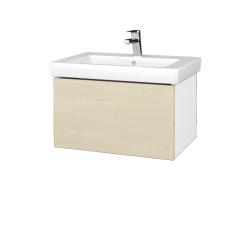 Dřevojas - Koupelnová skříň VARIANTE SZZ 65 - N01 Bílá lesk / D02 Bříza (271534)