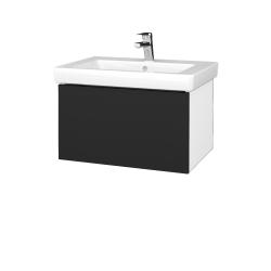 Dřevojas - Koupelnová skříň VARIANTE SZZ 65 - N01 Bílá lesk / L03 Antracit vysoký lesk (271671)