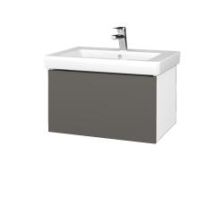 Dřevojas - Koupelnová skříň VARIANTE SZZ 65 - N01 Bílá lesk / N06 Lava (271701)