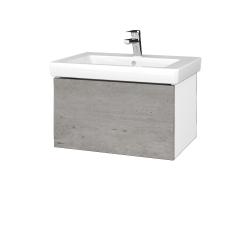 Dřevojas - Koupelnová skříň VARIANTE SZZ 65 - N01 Bílá lesk / D01 Beton (271749)