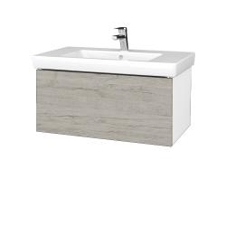 Dřevojas - Koupelnová skříň VARIANTE SZZ 80 - N01 Bílá lesk / D05 Oregon (272036)