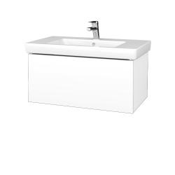 Dřevojas - Koupelnová skříň VARIANTE SZZ 80 - N01 Bílá lesk / L01 Bílá vysoký lesk (272203)