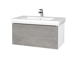 Dřevojas - Koupelnová skříň VARIANTE SZZ 80 - N01 Bílá lesk / D01 Beton (272210)
