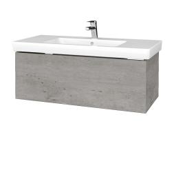 Dřevojas - Koupelnová skříňka VARIANTE SZZ 100 - D01 Beton / D01 Beton (272265)