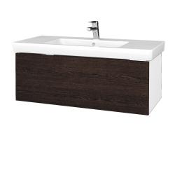 Dřevojas - Koupelnová skříňka VARIANTE SZZ 100 - N01 Bílá lesk / D08 Wenge (272524)