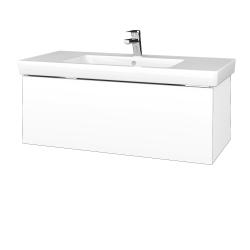 Dřevojas - Koupelnová skříňka VARIANTE SZZ 100 - N01 Bílá lesk / L01 Bílá vysoký lesk (272678)