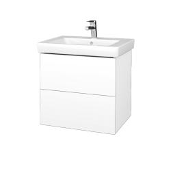 Dřevojas - Koupelnová skříň VARIANTE SZZ2 60 - M01 Bílá mat / M01 Bílá mat (272852)