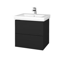 Dřevojas - Koupelnová skříň VARIANTE SZZ2 60 - L03 Antracit vysoký lesk / L03 Antracit vysoký lesk (272883)