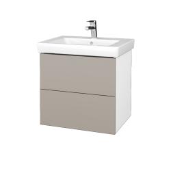 Dřevojas - Koupelnová skříň VARIANTE SZZ2 60 - N01 Bílá lesk / N07 Stone (273125)