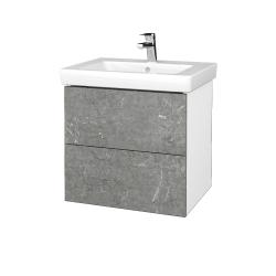 Dřevojas - Koupelnová skříň VARIANTE SZZ2 60 - N01 Bílá lesk / D20 Galaxy (273187)