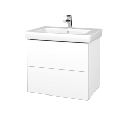 Dřevojas - Koupelnová skříňka VARIANTE SZZ2 65 - M01 Bílá mat / M01 Bílá mat (273323)