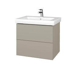 Dřevojas - Koupelnová skříňka VARIANTE SZZ2 65 - L04 Béžová vysoký lesk / L04 Béžová vysoký lesk (273361)