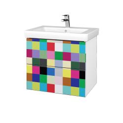 Dřevojas - Koupelnová skříňka VARIANTE SZZ2 65 - N01 Bílá lesk / IND Individual (273545)