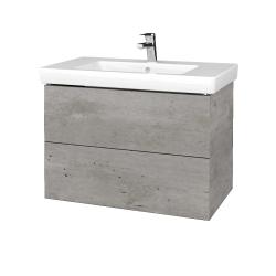 Dřevojas - Koupelnová skříň VARIANTE SZZ2 80 - D01 Beton / D01 Beton (273675)