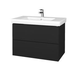 Dřevojas - Koupelnová skříň VARIANTE SZZ2 80 - L03 Antracit vysoký lesk / L03 Antracit vysoký lesk (273828)