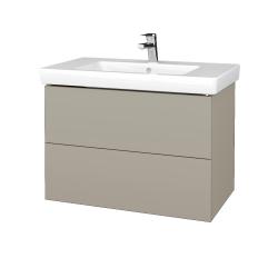 Dřevojas - Koupelnová skříň VARIANTE SZZ2 80 - L04 Béžová vysoký lesk / L04 Béžová vysoký lesk (273835)