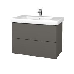 Dřevojas - Koupelnová skříň VARIANTE SZZ2 80 - N06 Lava / N06 Lava (273859)