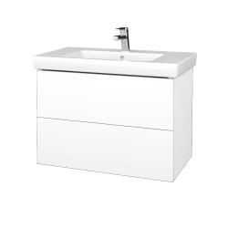 Dřevojas - Koupelnová skříň VARIANTE SZZ2 80 - N01 Bílá lesk / M01 Bílá mat (273996)