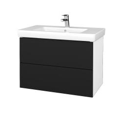 Dřevojas - Koupelnová skříň VARIANTE SZZ2 80 - N01 Bílá lesk / N08 Cosmo (274078)