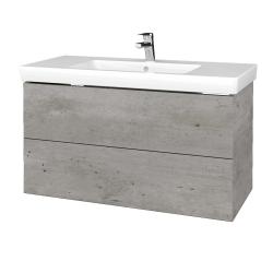 Dřevojas - Koupelnová skříň VARIANTE SZZ2 100 - D01 Beton / D01 Beton (274146)