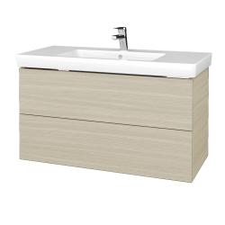 Dřevojas - Koupelnová skříň VARIANTE SZZ2 100 - D04 Dub / D04 Dub (274177)