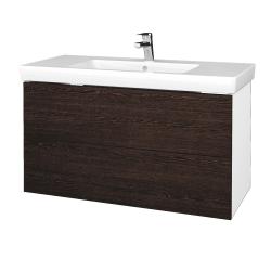 Dřevojas - Koupelnová skříň VARIANTE SZZ2 100 - N01 Bílá lesk / D08 Wenge (274405)