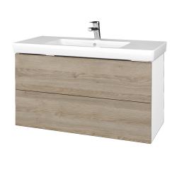 Dřevojas - Koupelnová skříň VARIANTE SZZ2 100 - N01 Bílá lesk / D17 Colorado (274450)