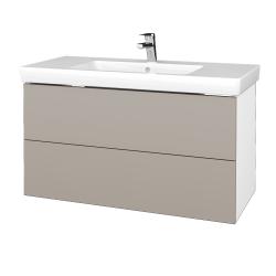 Dřevojas - Koupelnová skříň VARIANTE SZZ2 100 - N01 Bílá lesk / N07 Stone (274535)
