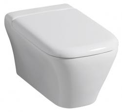 Geberit myDay Závěsné WC s hlubokým splachováním uzavřený tvar Rimfree 54cm KeraTect / Bílá 201460600 (201460600)