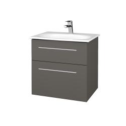 Dřevojas - Koupelnová skříň PROJECT SZZ2 60 - N06 Lava / Úchytka T02 / N06 Lava (328375B)