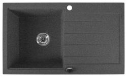 Granitový vestavný dřez s odkapávací plochou, 86x50 cm, černá (GR7103) - SAPHO