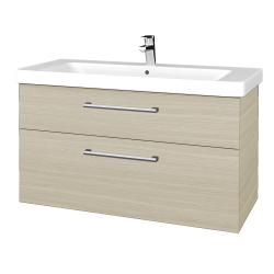 Dřevojas - Koupelnová skříň Q MAX SZZ2 105 - D04 Dub / Úchytka T03 / D04 Dub (331672C)