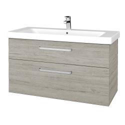 Dřevojas - Koupelnová skříň Q MAX SZZ2 105 - D05 Oregon / Úchytka T01 / D05 Oregon (331689A)