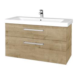Dřevojas - Koupelnová skříň Q MAX SZZ2 105 - D09 Arlington / Úchytka T01 / D09 Arlington (331719A)