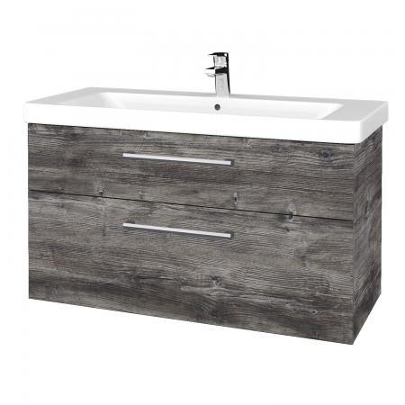Dřevojas - Koupelnová skříň Q MAX SZZ2 105 - D10 Borovice Jackson / Úchytka T03 / D10 Borovice Jackson (331726C)