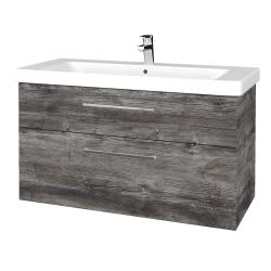Dřevojas - Koupelnová skříň Q MAX SZZ2 105 - D10 Borovice Jackson / Úchytka T04 / D10 Borovice Jackson (331726E)