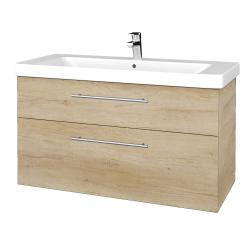 Dřevojas - Koupelnová skříň Q MAX SZZ2 105 - D15 Nebraska / Úchytka T02 / D15 Nebraska (331733B)
