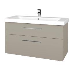 Dřevojas - Koupelnová skříň Q MAX SZZ2 105 - M05 Béžová mat / Úchytka T04 / M05 Béžová mat (331771E)