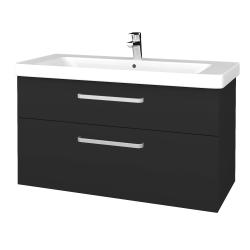 Dřevojas - Koupelnová skříň Q MAX SZZ2 105 - N03 Graphite / Úchytka T01 / N03 Graphite (331818A)
